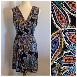 Banana Republic Boho Floral Dress Sleeveless M